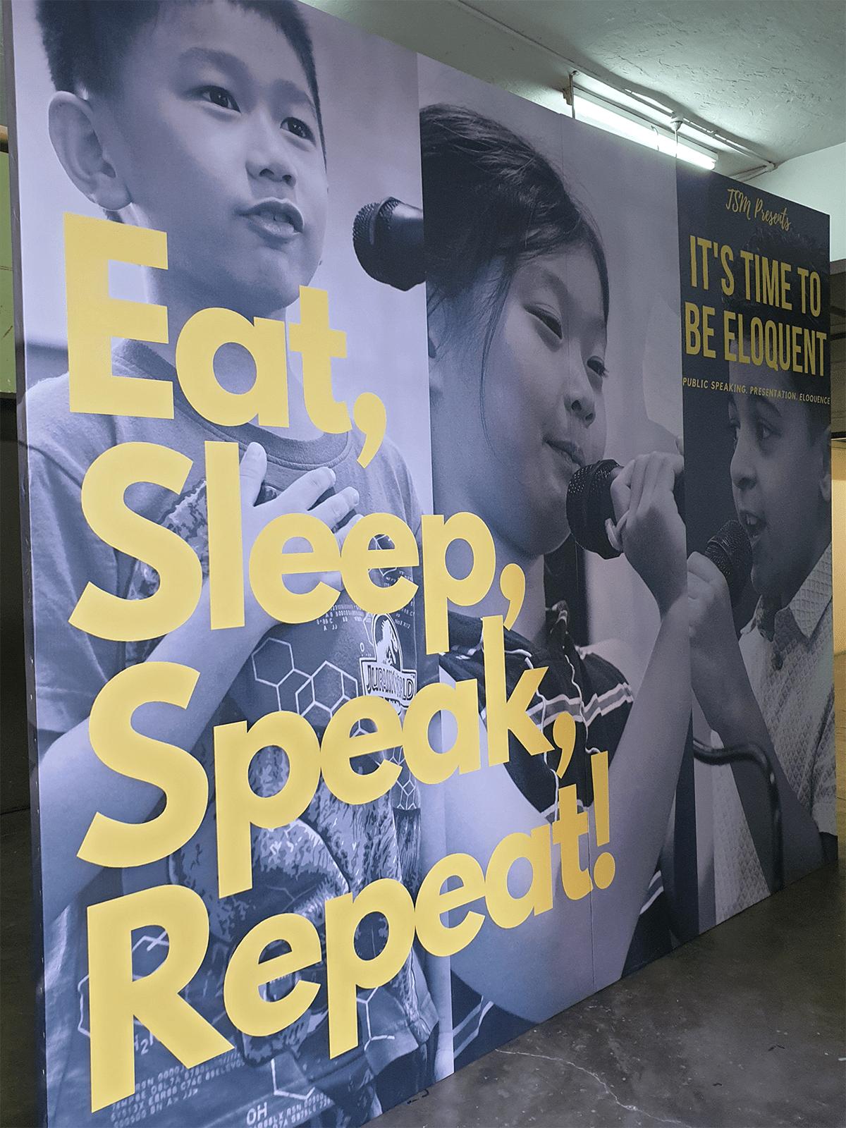 eat sleep speak repeat