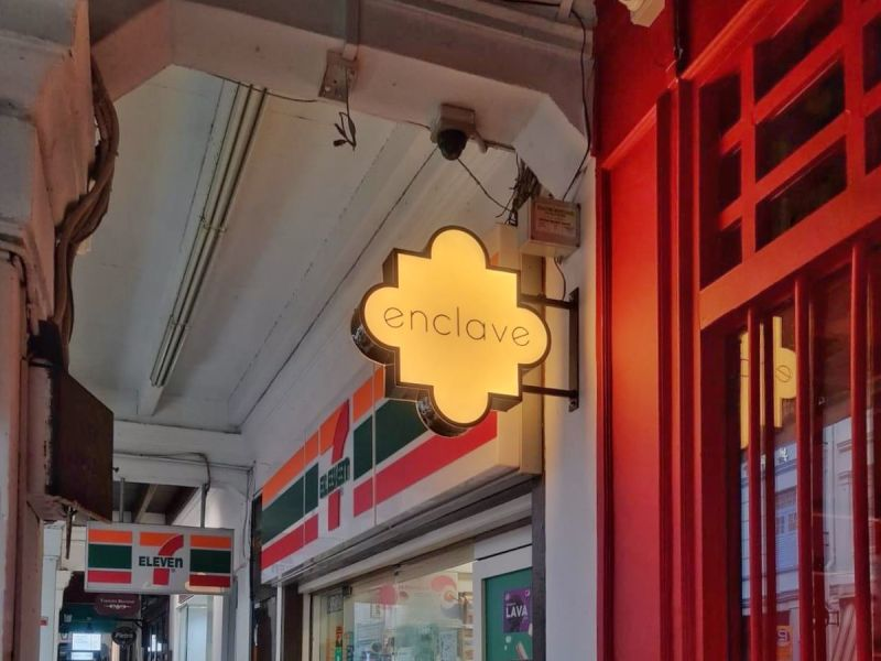 lightbox sign for enclave Keong saik singapore