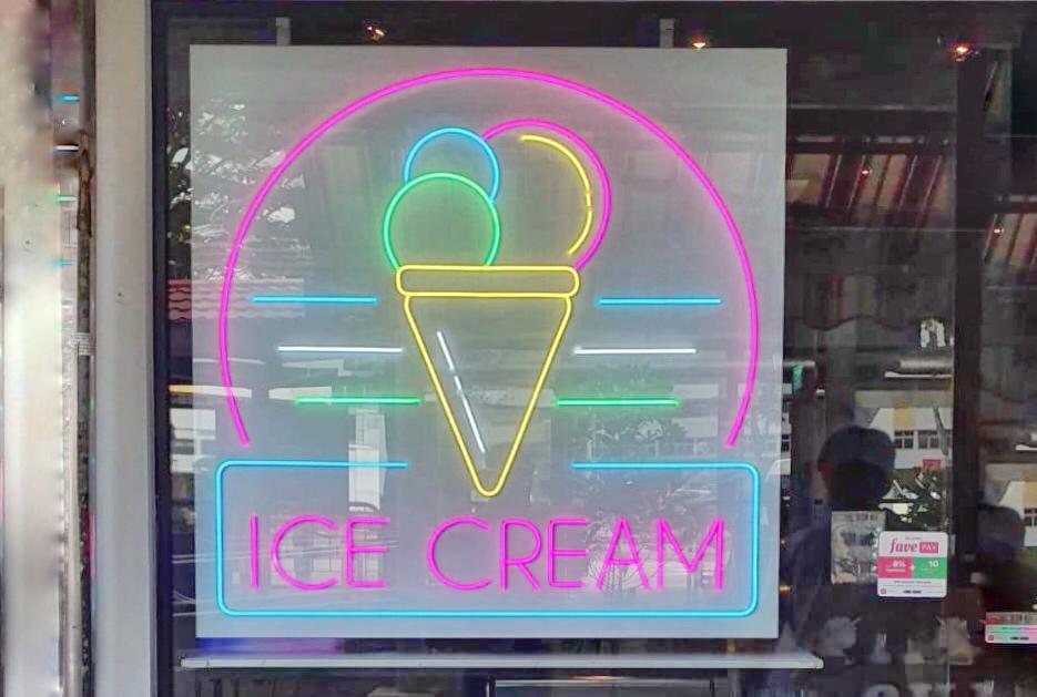 ice-cream neon signage Singapore