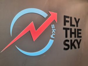 fly the sky 3d signage